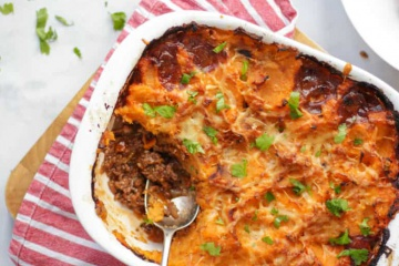 Moroccan Cottage Pie with Sweet Potato